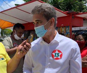 O coordenador da campanha do (PT) em Feira de Santana, Robinson Almeida (PT)